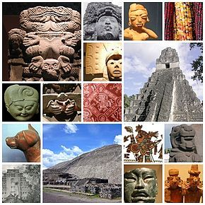 Mosaic of various features of Mesoamerica