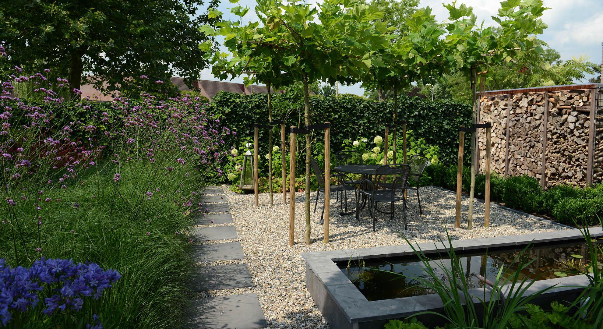 Rodenburg tuinen achtertuin met hoogteverschil inclusief for Spiegelvijver maken