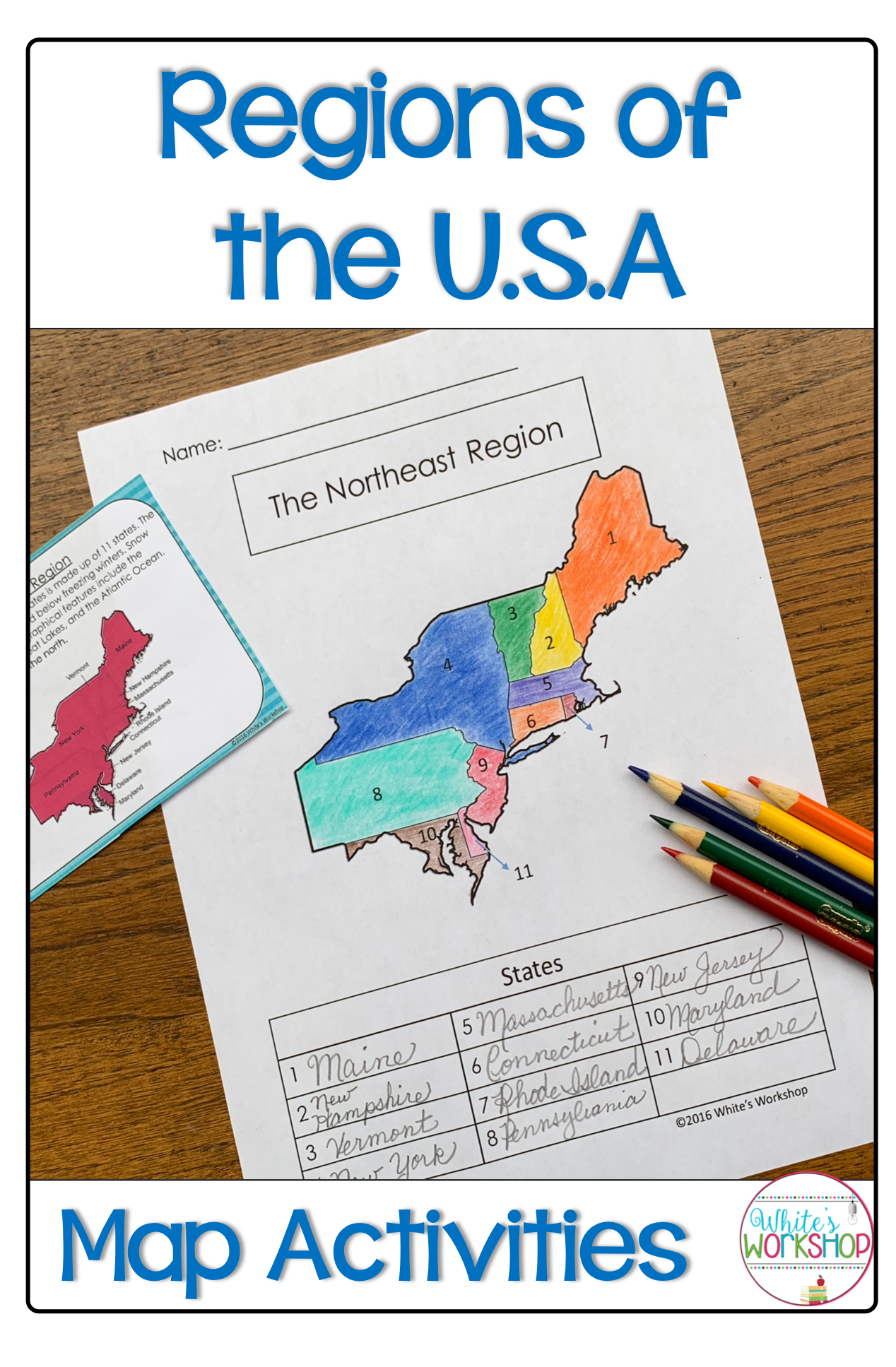 Regions Of The United States Map Activities With Images