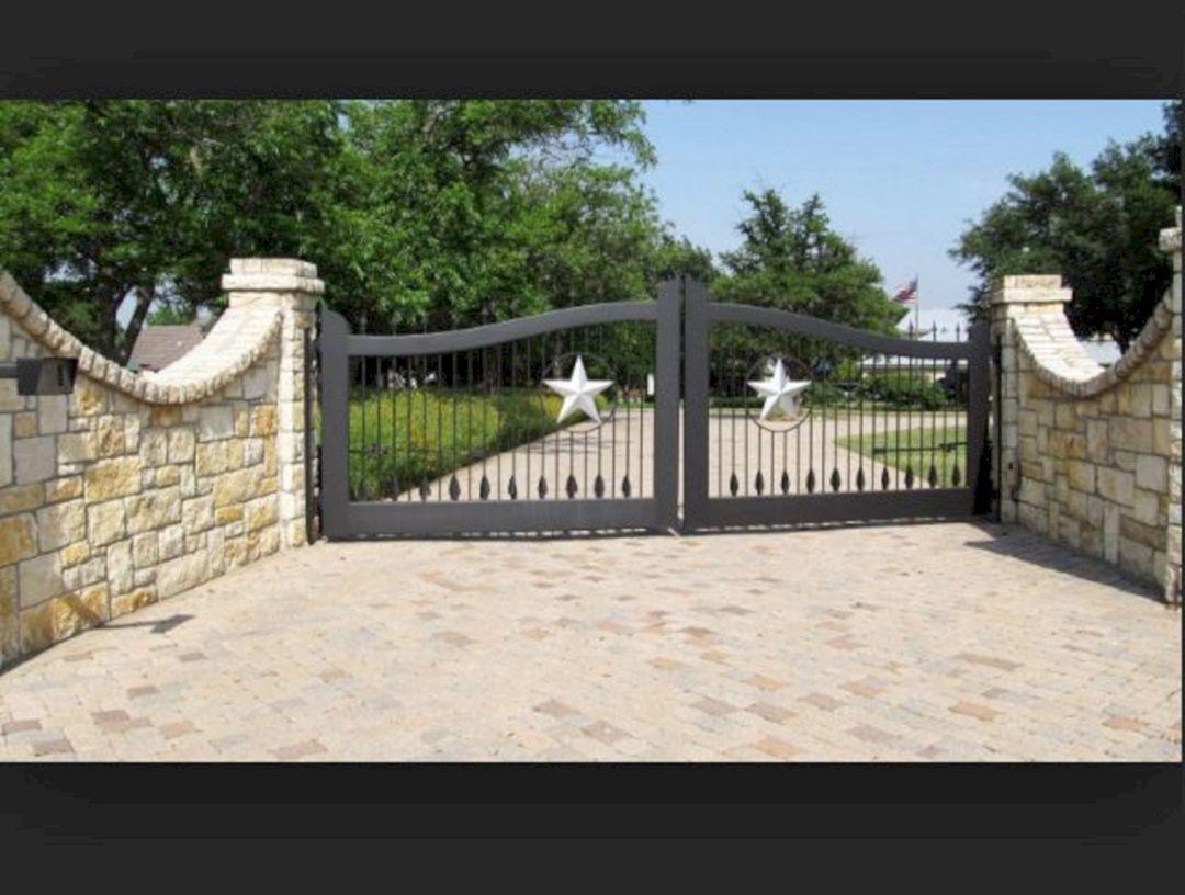 Driveway Gate Farmhouse Driveway Entrance Ideas