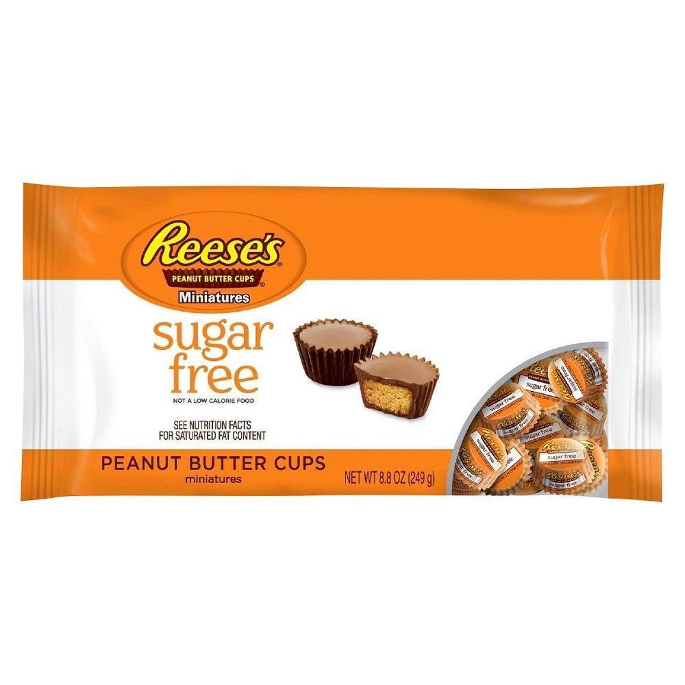 Reese S Peanut Butter Cups Sugar Free Chocolate Candy 8 8oz Sugar Free Peanut Butter Sugar Free Reeses Peanut Butter Cups