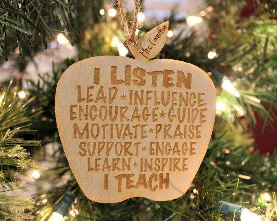 I Listen I Teach Personalized Teacher Gift Teacher Etsy Teacher Christmas Gifts Teacher Christmas Teacher Gifts Christmas Ideas