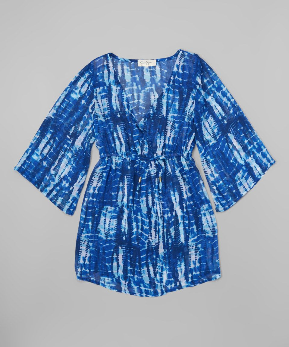 3b0ed9b8da0d This Jessica Simpson Collection Blue Tie-Dye Cover-Up - Girls by Jessica  Simpson Collection is perfect! #zulilyfinds