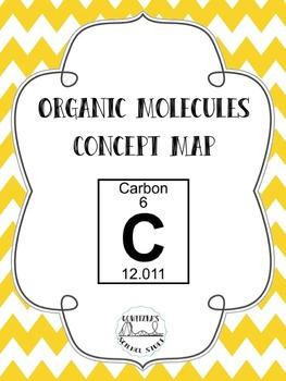 Organic Molecule Concept Map.Organic Molecules Biomolecules Concept Map Graphic Organizer