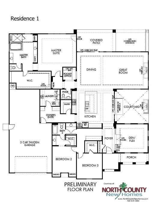 Quintessa floor plans new homes in vista for sale new single story quintessa floor plans new homes in vista for sale new single story homes floor plan 1 malvernweather Choice Image