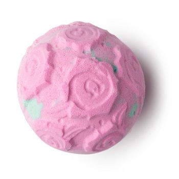 Rose Bombshell Bath Bomb: Slip into the tub with a Rose Bombshell and let your troubles float away like rose petals on the breeze. As its outer shell fizzes away, it releases a luxurious cascade of real yellow rose petals and mineral-rich sea salt.