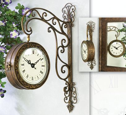 railway train station clock double sided this is sooooo pretty