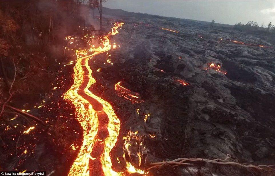 Le Kilauea un volcan qui sourit en eruption  2Tout2Rien