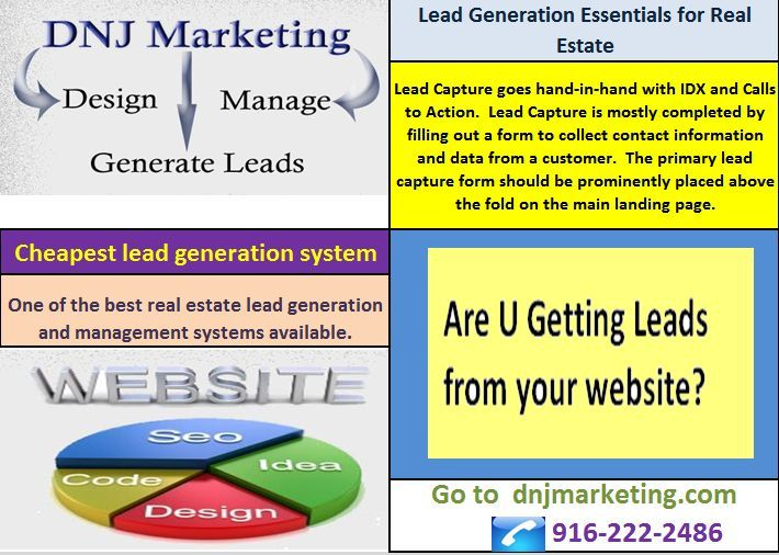 Lead Capture goes hand-in-hand with IDX and Calls to Action Lead - customer contact information form