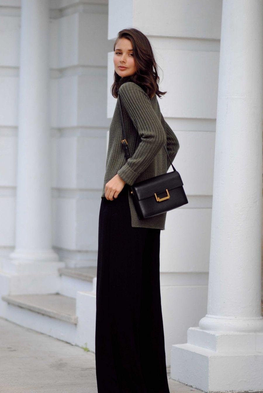 wide leg dress pants outfit
