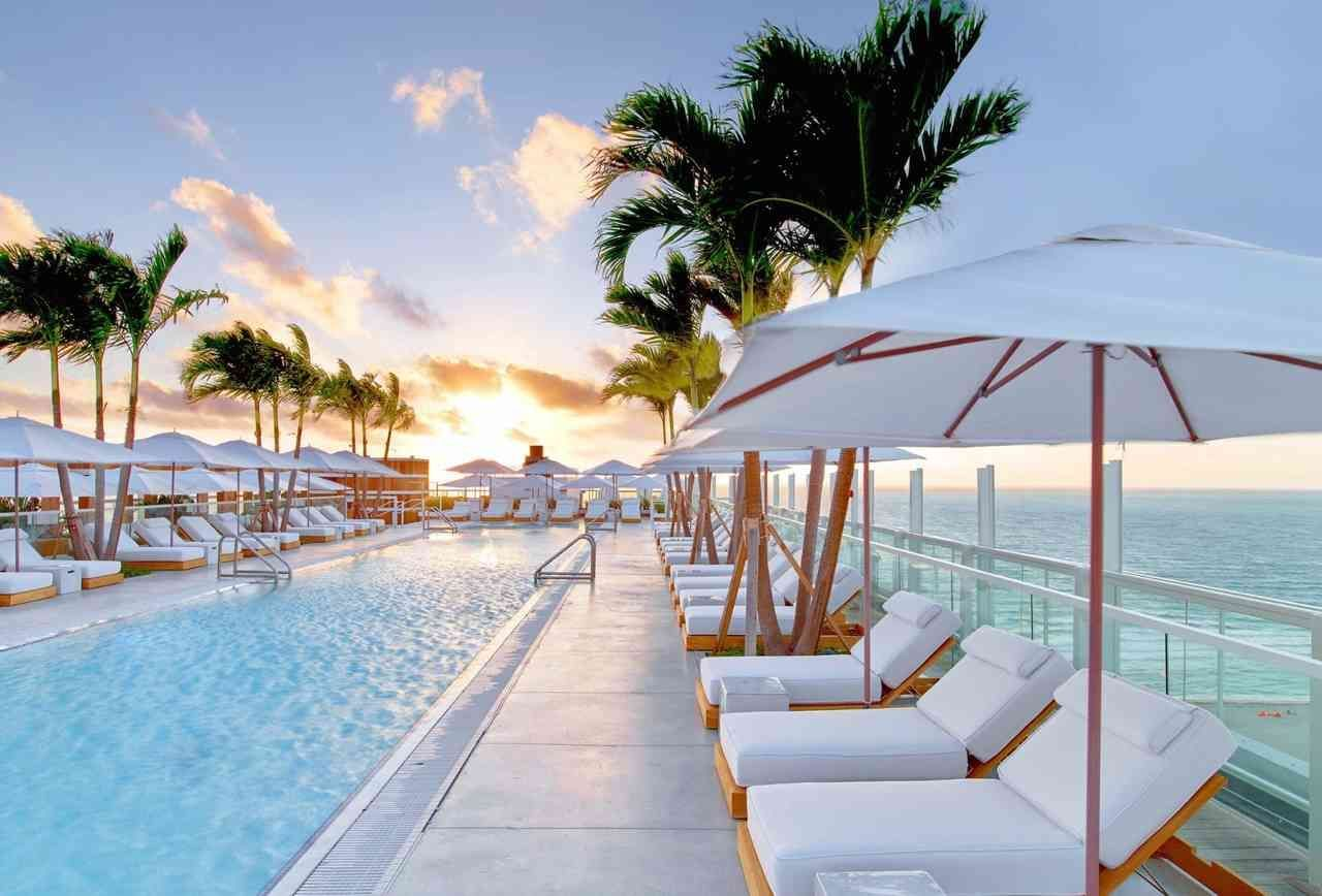 Rooftop At The 1 Hotel South Beach Miami Fl When Your Pool Is Tabbed As Having One Of The Best Hotel Pool Views On The Planet By The Wo South Beach