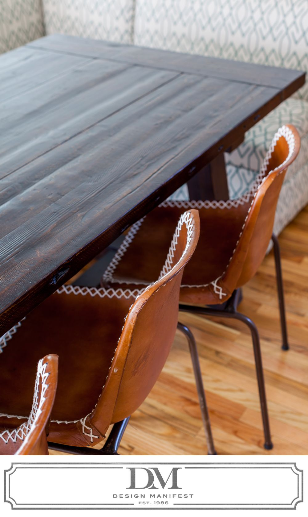 Another View Of Leather Schoolhouse Chairs From Rejuvenation