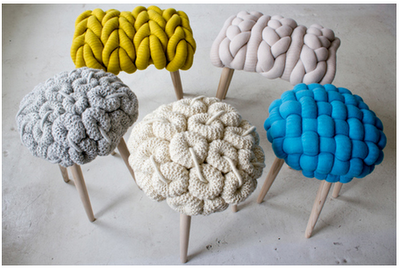 sweater stools - so cool!  Now to find some old cool sweaters...