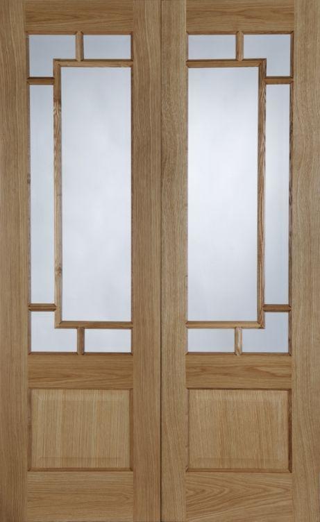 Hampstead Pre Finished White Oak Internal Door Pair Interior Door