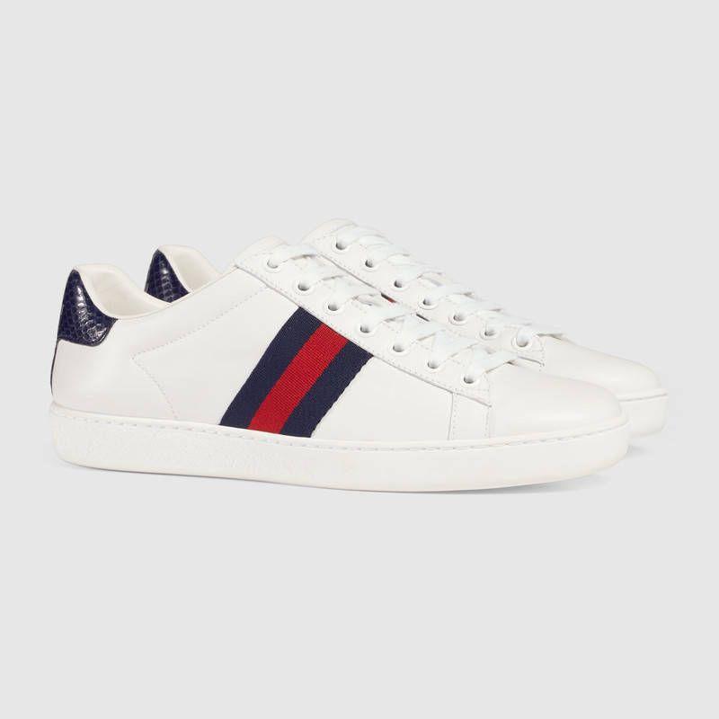 f8facefe4e9 Zapatos Bonitos · Ropa · Gucci Ace leather sneaker Deportivas Gucci