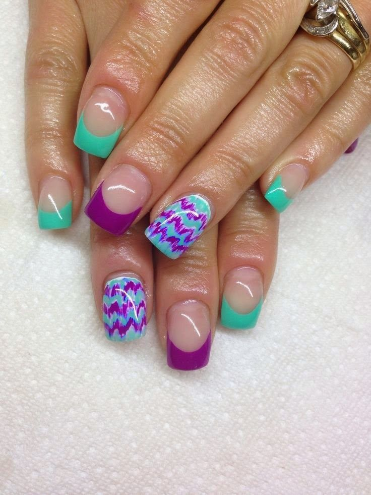 cool gel nail art design