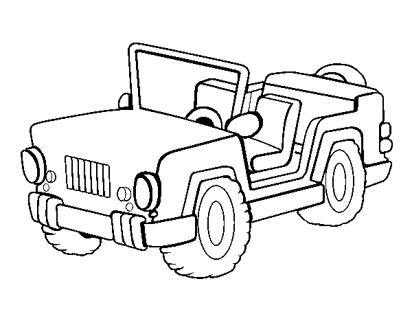 Color The Jeep Online Safari Jeep Jeep Coloring Pages