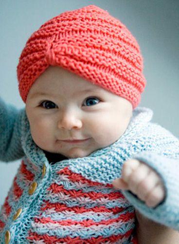 Knit baby turban pattern  664c55bfb2d