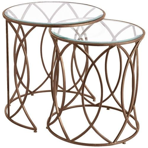 Elana Bronze Iron Round Nesting Tables | Geometric Designs, Tables And  Living Rooms