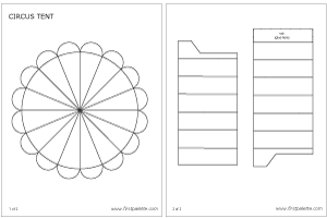 Free printable circus tent template to color and assemble into a three-dimensional paper circus.. ?CQ #paper #templates #crafts #how-to #DIY  sc 1 st  Pinterest & Free printable circus tent template to color and assemble into a ...