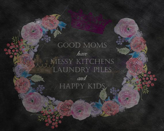 Floral Chalkboard Printable Mother's Day by SweetGraceStudios