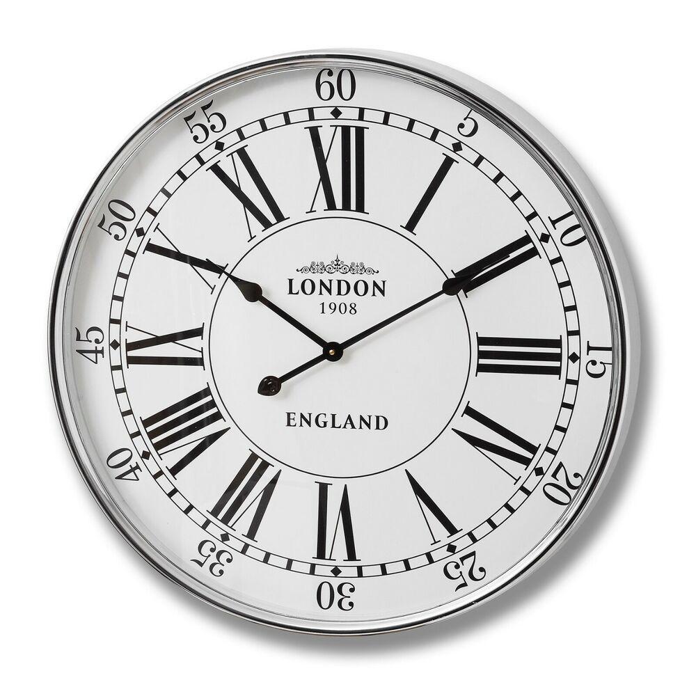 Luxury Modern London 1908 City Wall Clock Home Poshlabs Retrostyle Vintage Wall Clock Wall Clock Large Wall Clock