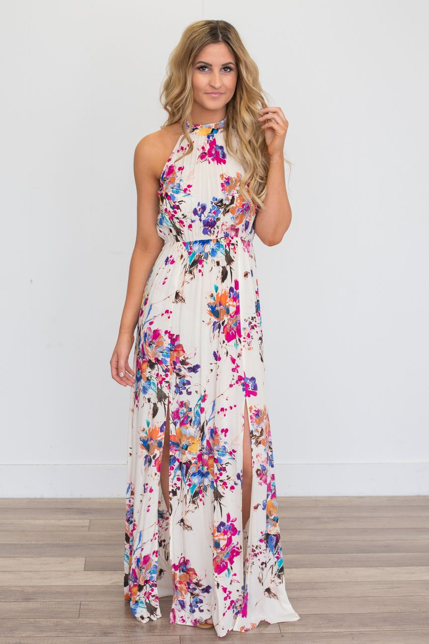 d346260dc959 Gardenia Floral Print Maxi Dress - Ivory Multi - Magnolia Boutique. Find  this Pin and more on My Style ...