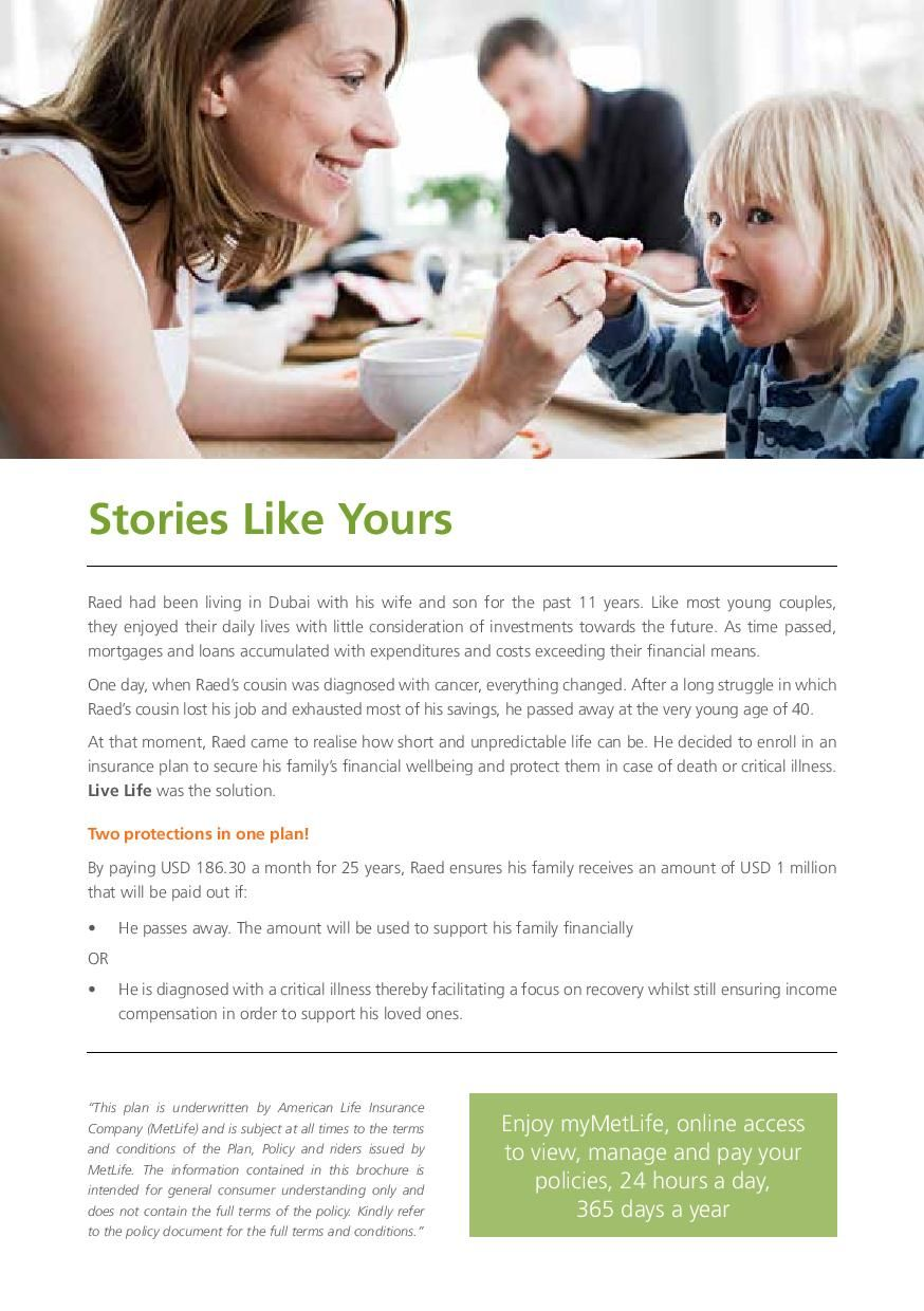 Metlife Uae Live Life Term Insurance Page 5 With Images Term