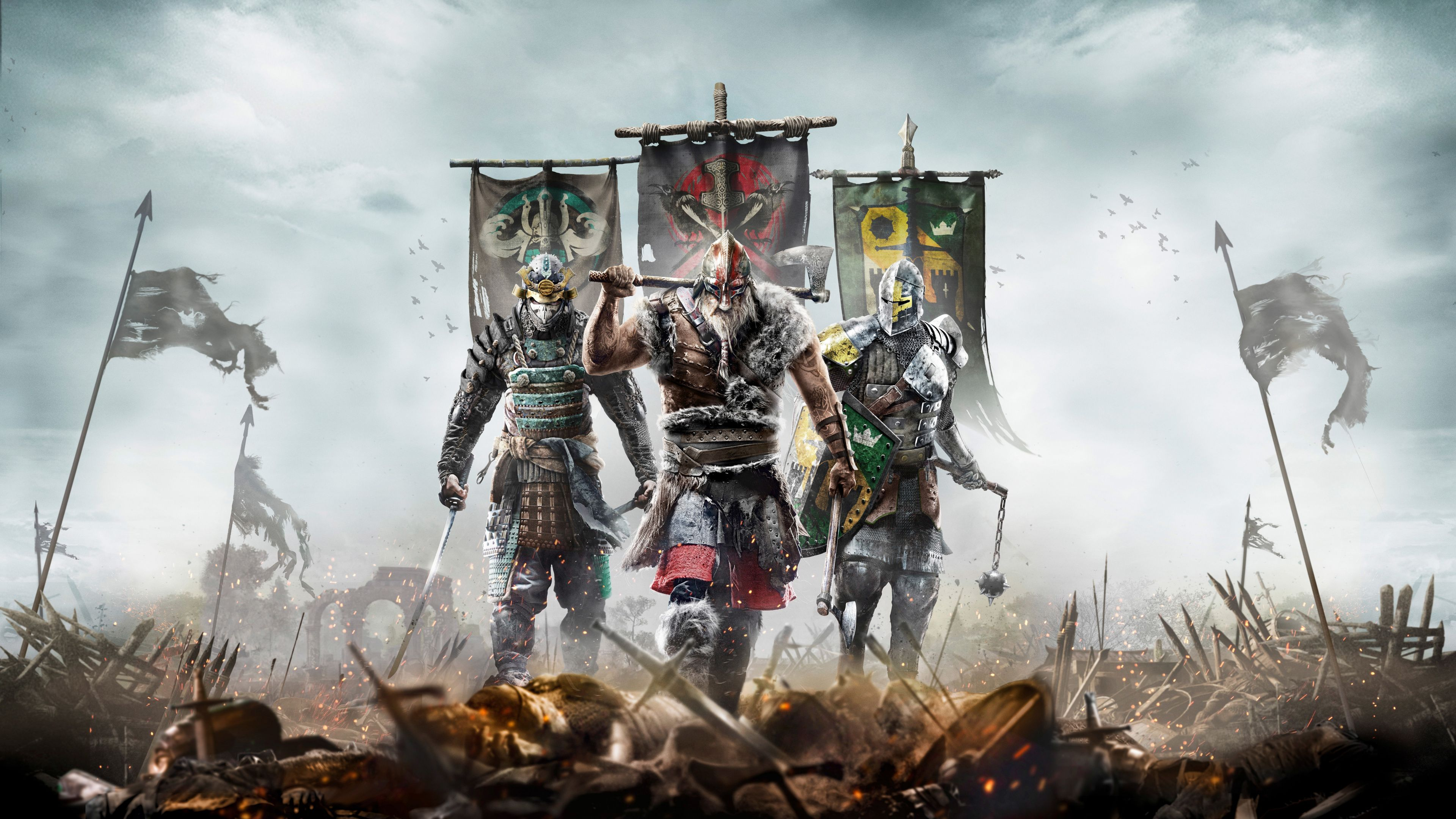 Downaload For Honor Video Game Warriors Wallpaper For Screen 3840x2160 4k Uhd 16 9 Widescreen For Honor Samurai Warriors Wallpaper For Honour Game