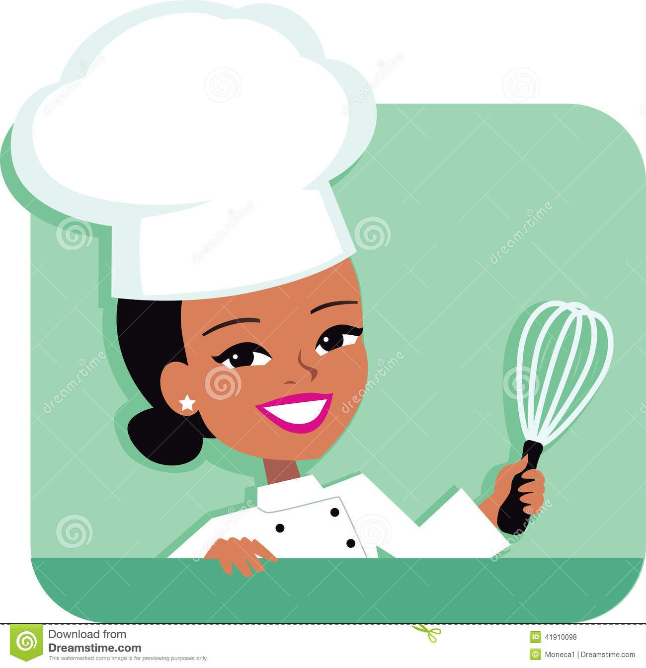 Illustration Of African American Woman Baking Cartoon Chef Cartoon Illustration Chef Pictures