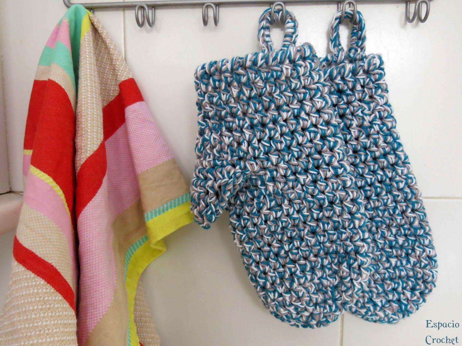 Espacio Crochet: Manoplas de cocina | Crochet / Ganchillo ...