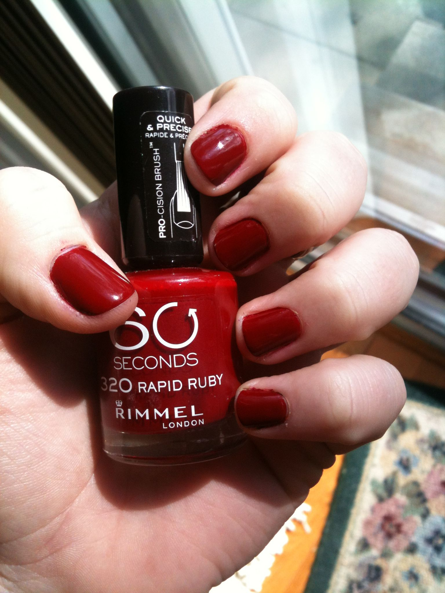 Rimmel London, 60 seconds in 320 ruby red #nails | Nails | Pinterest ...