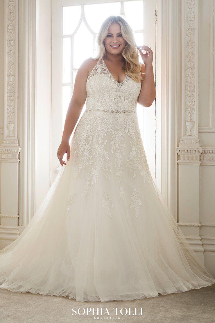 Kali Style Y11878ls Sophia Tolli Elegant Wedding Dress Wedding Dresses Lace Wedding Gown Halter [ 1110 x 740 Pixel ]
