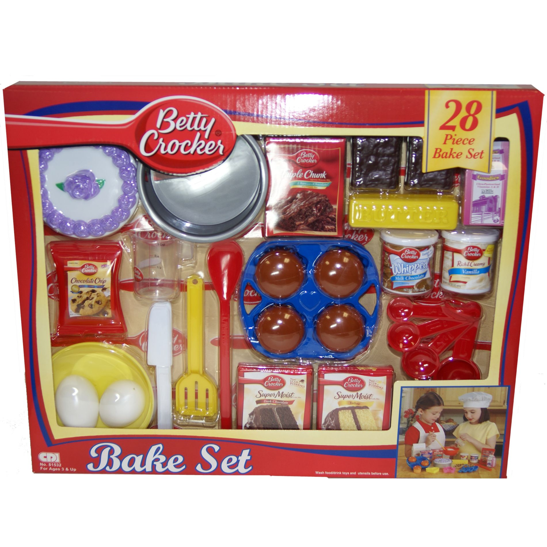 Betty Crocker 28 Piece Pastry Chef Play Food Bake Set