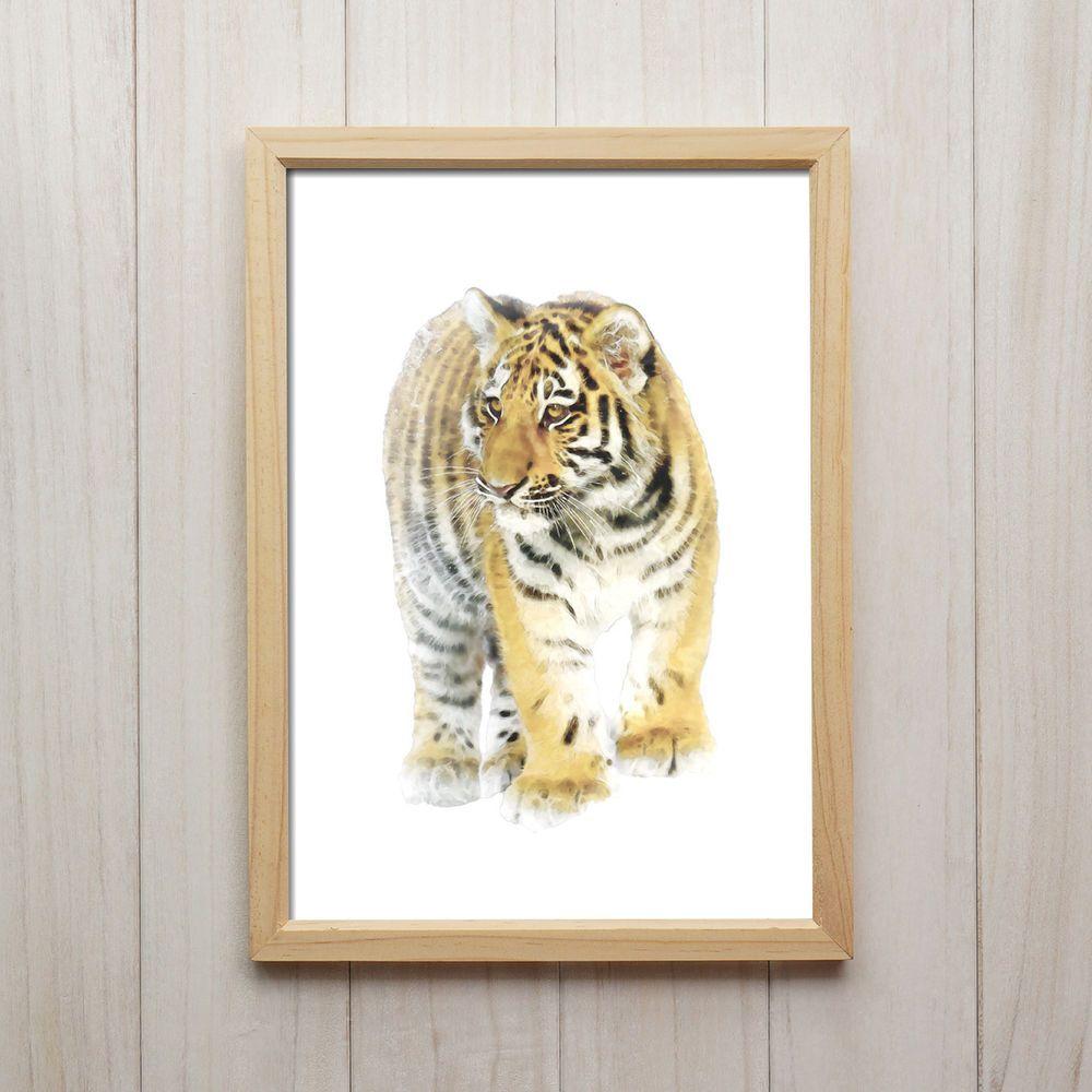 Tiger Kunstdruck A4 Tiere Afrika Natur Katze Poster Dekoration