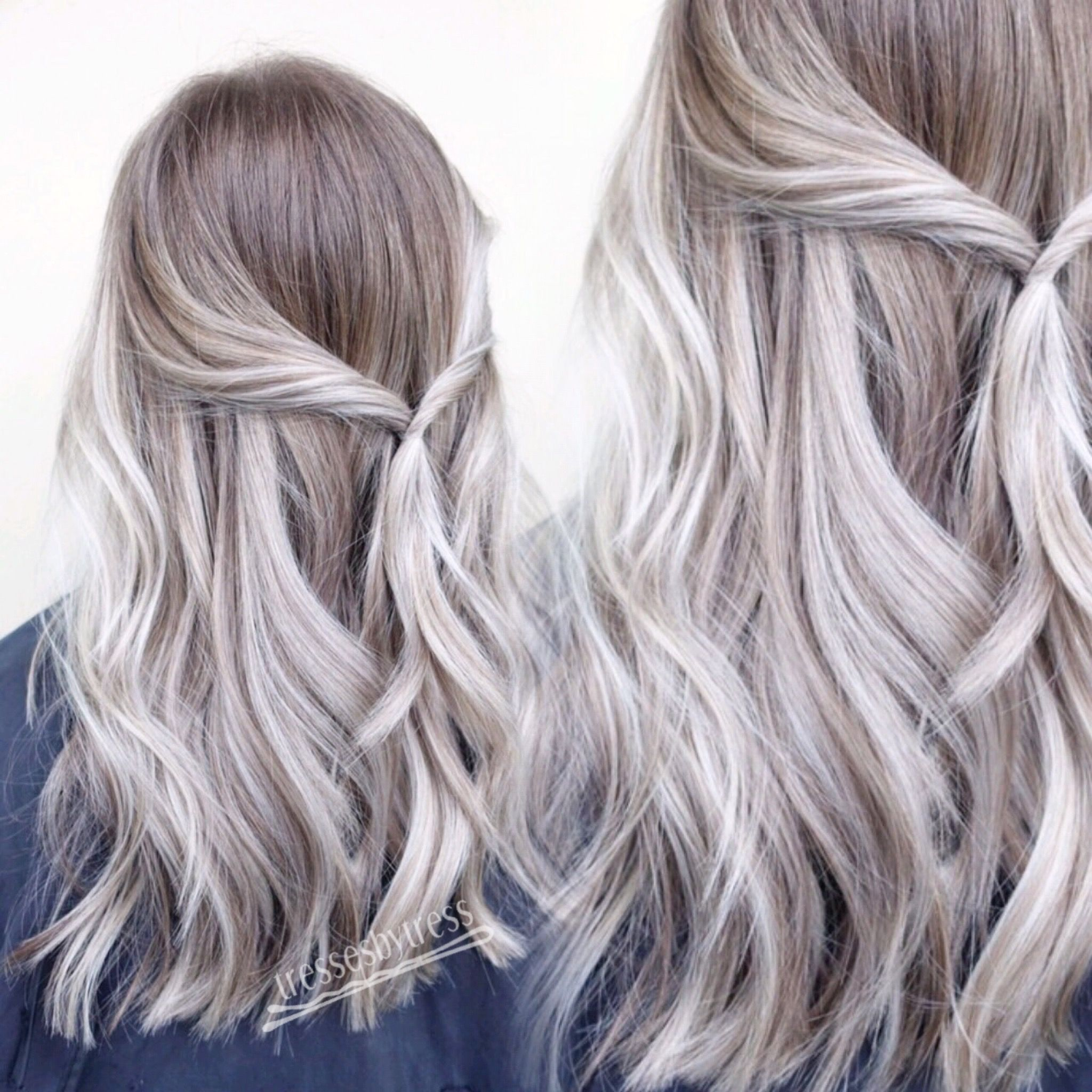 Platinum white blonde balayage ombré Hair Pinterest Hair