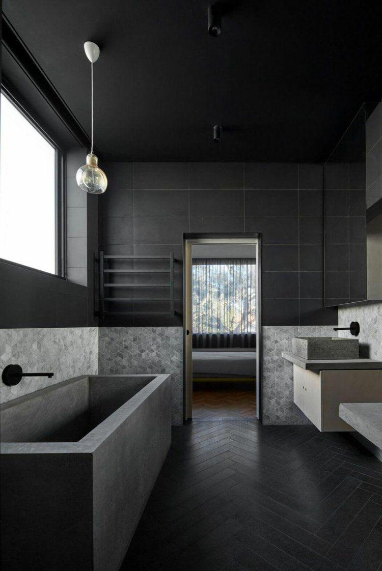 Pin Von Mohler Raphael Auf Beton Dusche Schwarzes Badezimmer