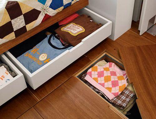 Storage Beneath Floorboards Small Space Storage Storage Spaces Small Spaces