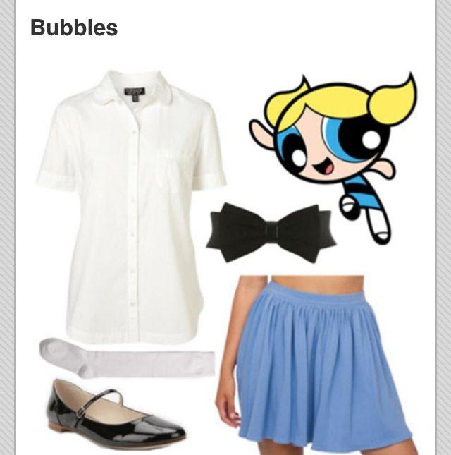 Powerpuff girls costume Bubbles  sc 1 st  Pinterest & Powerpuff girls costume: Bubbles | Halloween | Pinterest | Powerpuff ...