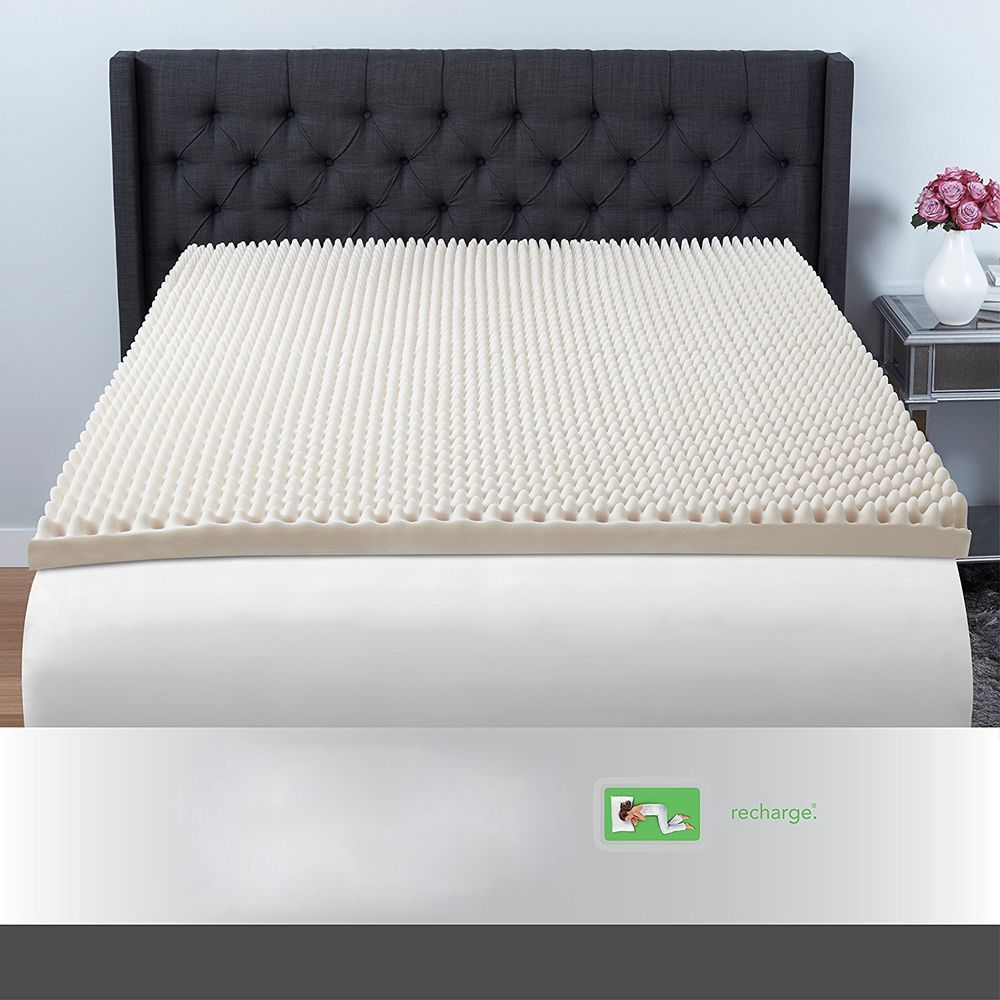 convoluted foam mattress topper supportive king size bed luxury foam