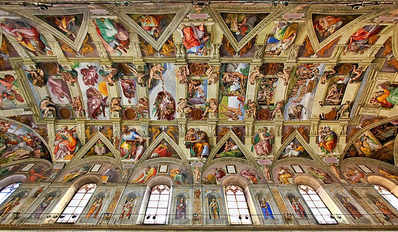 Image result for images of the sistine chapel ceiling