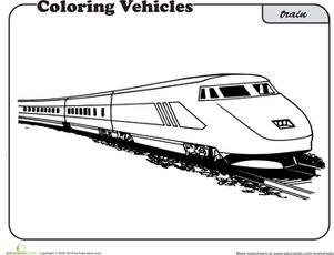 Vehicle Coloring Pages Education Com Train Coloring Pages Cool Coloring Pages Coloring Pages