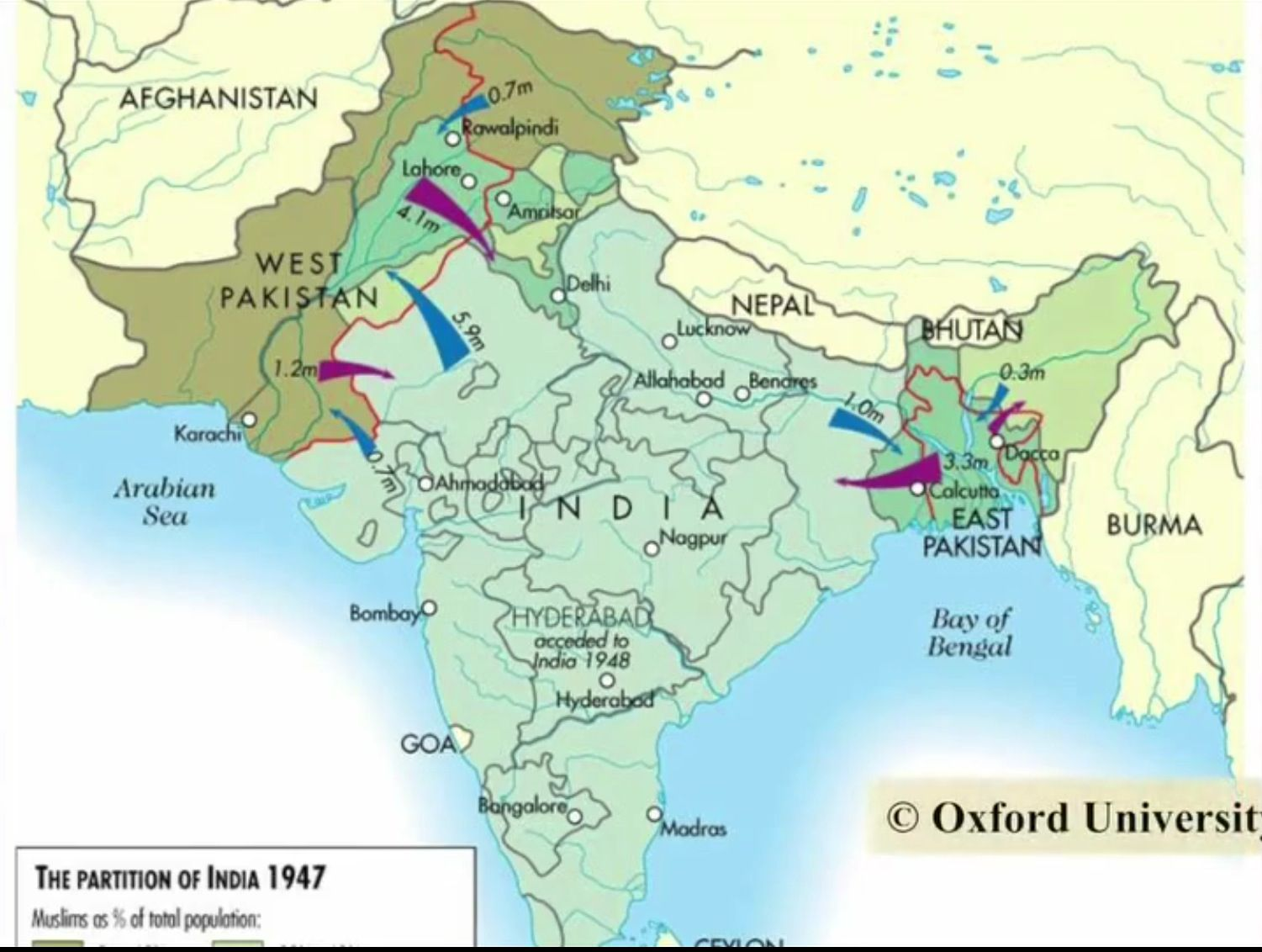 Partition of india in 1947 | Modern history from 1760 ...