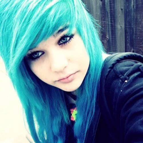 Emo Hairstyles Impressive Blue Hair Emo Hairstyles For Girls  Emo Girls  Pinterest  Emo