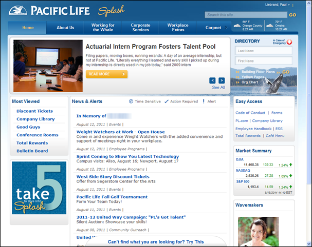Intranet Profile Screenshots  Google Search  Intranets Banks