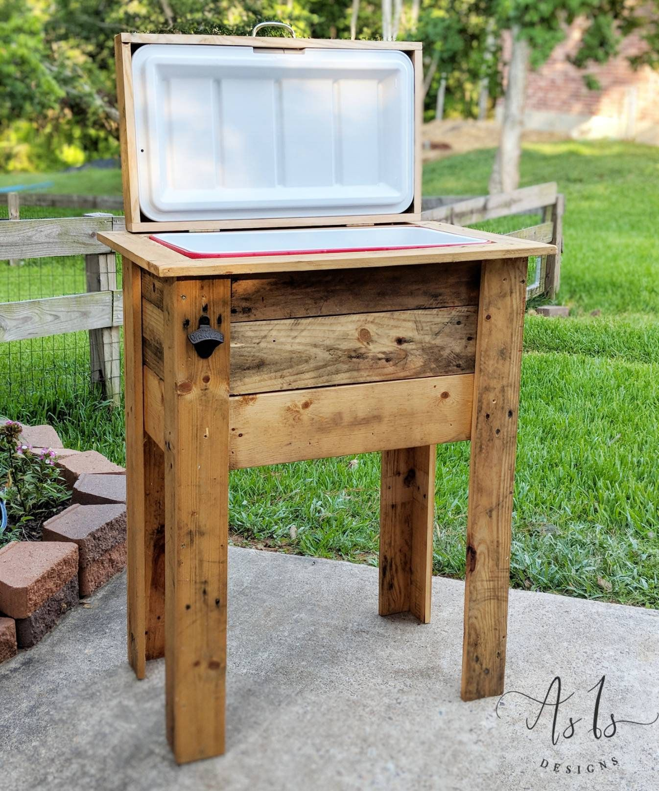Standing Wood Cooler Reclaimed Wood Cooler Party Cooler Etsy Wood Cooler Cooler Stand Wooden Cooler