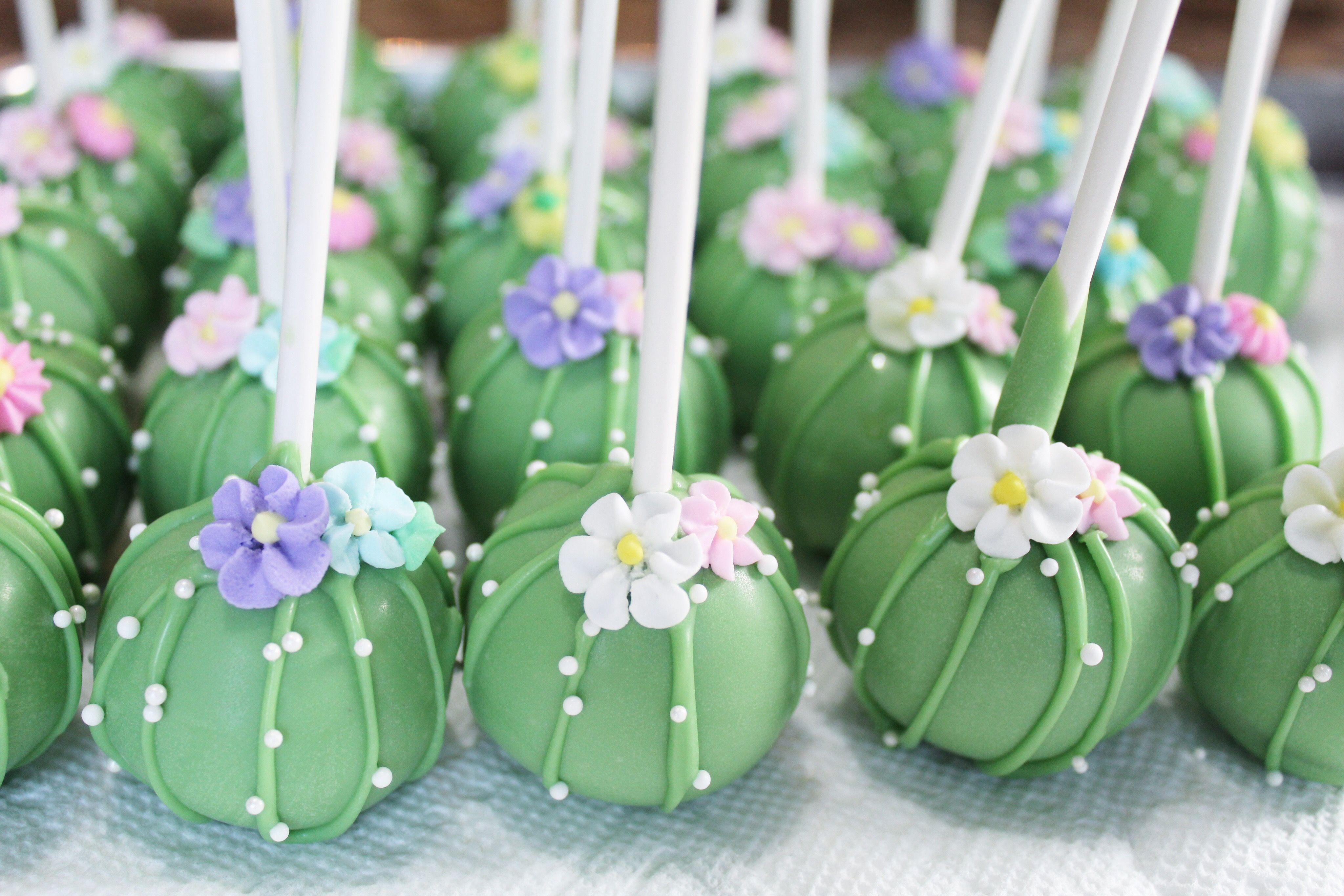 Cactus Cake Pops Cactus Cupcakes Cactus Cactuscupcakes Cake Cupcakes Pops In 2020 Cactus Cake Cake Pops Cactus Cupcakes