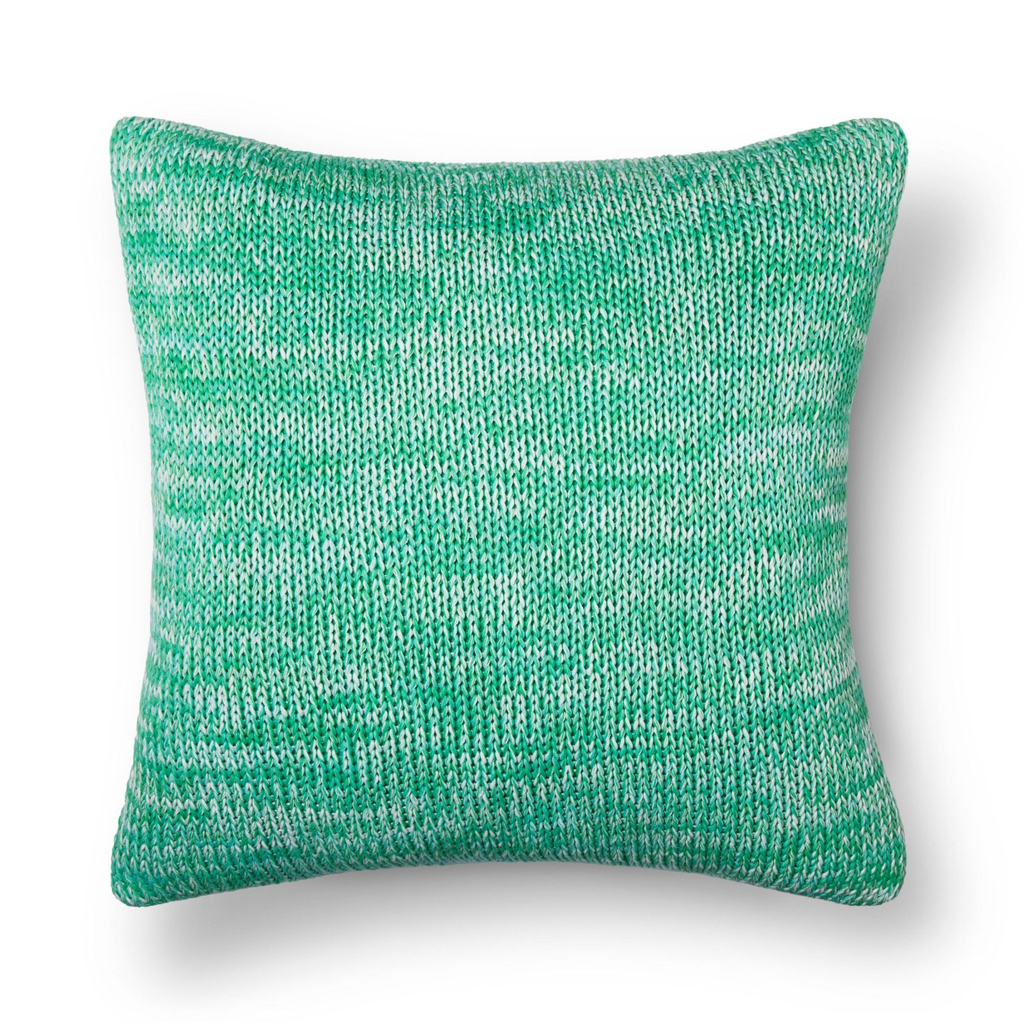 Green Marled Knit Throw Pillow Threshold , Adult Unisex