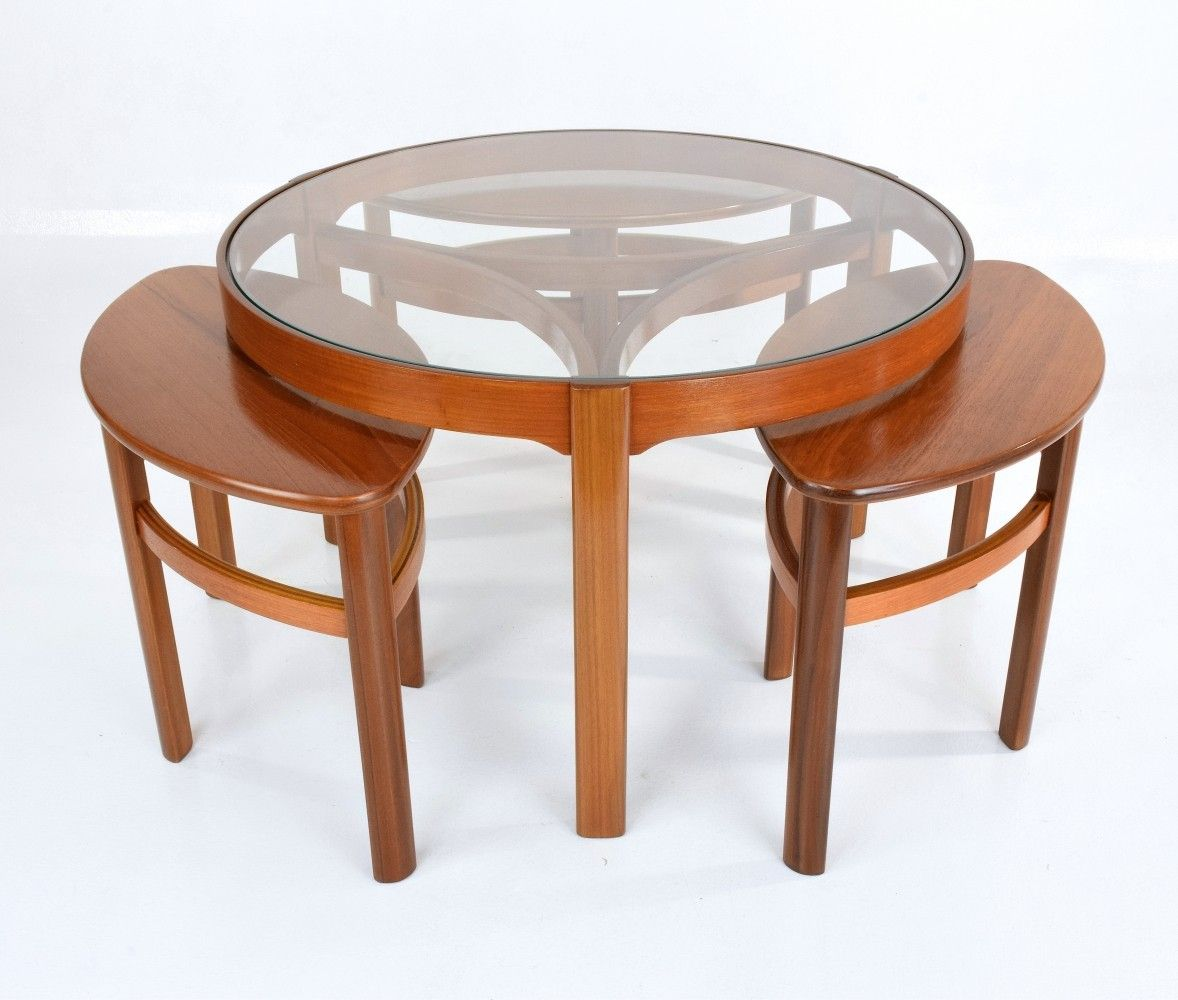Mid Century Modern Nesting Table By Nathan 1960s 73640 Mid