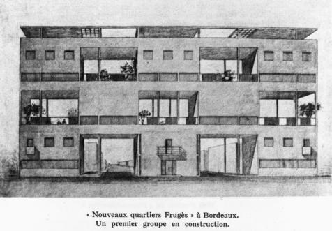 le corbusier pessac quartiers modernes frug s 1925 plan flc 19879 un fragment de. Black Bedroom Furniture Sets. Home Design Ideas